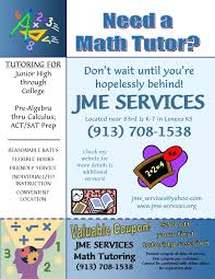Tutor Flyer Templates Blue Tutor Math Green And Blue Illustrated Math Solutions