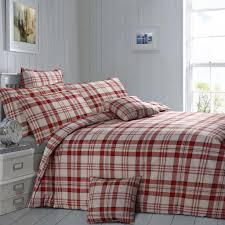 red colour check contemporary design reversible bedding duvet quilt