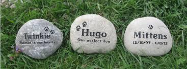 river rock pet memorial stones
