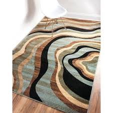 beige and blue area rugs well woven nirvana waves multi abstract geometric blue beige ivory brown