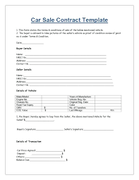Personal Car Sale Agreement Vehicle Payment Contract Template Inspirational Car Purchase