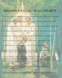 Thoughts On Lds Colbys Line Of Authority