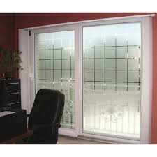 patterned decorative white frosted window privacy frosted glass large block pattern