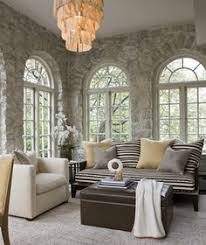 Lovely High Stone Walls And Beautiful Windows. Stone Interior, Interior  Design, Interior Walls