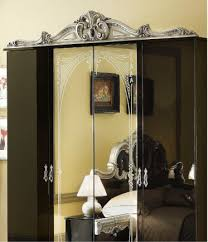black and silver bedroom furniture. barocco 4 door wardrobe blacksilver black and silver bedroom furniture