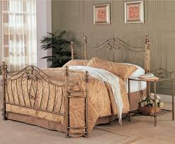 metal bedroom sets. antique gold finish headboard \u0026 footboard w/night stand metal bedroom sets r