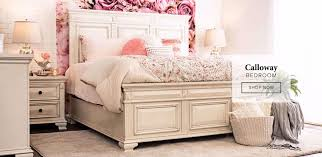 financing calloway white 3 piece bed dresser mirror nightstand