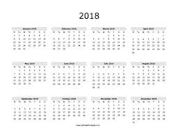 yearly printable calendar 2018 free printable 2018 calendars benj franklinfire co