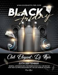 Black Flyer Backgrounds Black Friday Free Psd Flyer Template For Elegant And Classy