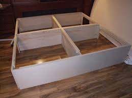 How To Build A Platform Bed Frame With Storage Drawers