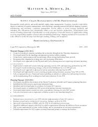 Supply Chain Resume Supply Chain Manager Resume Objective Therpgmovie 20