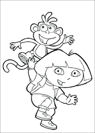 Dora For Coloring Funny The Explorer Coloring Pages Dora Coloring