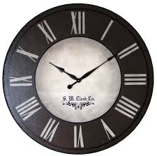 rustic roman style black and white extra large wall clocks