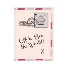 Letter World Vintage Letter Off To See The World Passport Cover Cream Holiday