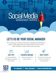 Social Media Design Templates Social Media Marketing Management Company Poster Flyer Template