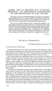Transmittal Letters Letter Of Transmittal American Journal Of International Law