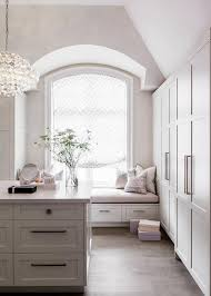 walk in closet with window seat alcove view full size