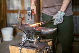 terran marks shapes metal on the anvil photo courtesy of animesh priya