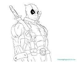 Deadpool Coloring Book Deadpool Coloring Pages Printable A Coloring