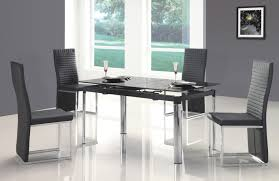 Modern Glass Kitchen Table Modern Black Dining Table