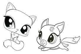 Littlest Pet Shop Coloring Pages Kitten And Puppy Coloringstar