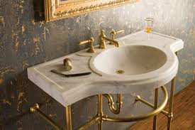 Marble Bathroom Sink Countertop Renaissance Console Top Stone Forest
