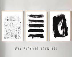 set of 3 black abstract prints set of 3 wall art abstract wall art black white art minimalist art set of 3 abstract print prints art on white black wall art with black white abstract etsy