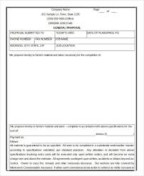 Contractor Proposal Template 17 Contractor Proposal Templates Free Word Pdf Format
