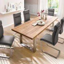 Design Esszimmertisch Mit Holz Eiche Dunkel Venditora Edelstahl