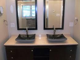 glass bathroom sink bowls image of bathroom vanities with vessel sinks