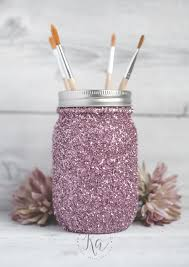 How To Decorate Mason Jars With Glitter DIY Glitter Mason Jar Tutorial KA Styles 2