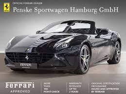 Ferrari California Cabrio In Schwarz Als Gebrauchtwagen In Hamburg Für 126 790