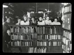 Image result for vintage library librarians
