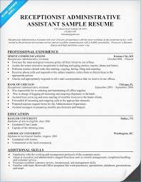 Receptionist Resume Template Resume Format For Receptionist Of