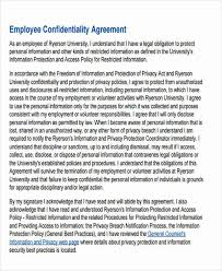 Employee Confidentiality Agreement 8+ Legal Confidentiality Agreements | Sample Templates