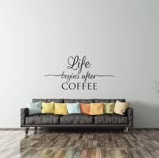 Wall Decal Quote Life Begins After Coffee Fixate Amazing Wall Decal Quotes
