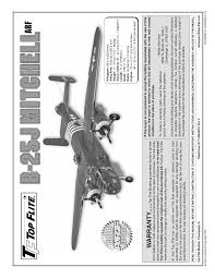 Top Flite Prop Chart Top Flite B 25j Mitchell You Have Reached Ftp Hobbico Com
