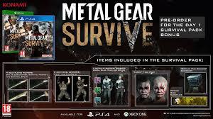 Metal Gear Survive Pre Order Pc