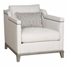 carroll modern classic nailhead trim ivory linen club chair kathy kuo home