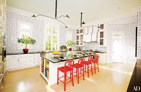 White Kitchen With Red Accents Six Home Daccor Trends