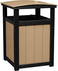 commercial outdoor trash cans. Picture Of LuxCraft Poly Commercial Trash Can Outdoor Cans R