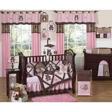 jojo designs teddy bear pink 9 piece crib bedding set