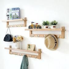diy wooden storage shelves bamboo wall storage racks wooden storage shelf with hooks creative home decor diy wooden storage shelves