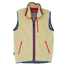 Old Glory Sherpa Vest Cream
