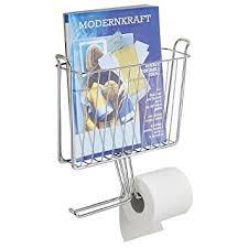Chrome Toilet Paper Holder Magazine Rack Amazon mDesign Wall Mount Newspaper and Magazine Rack with 97
