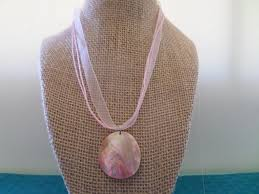 mother of pearl seashell necklace seash greenlifecenter com