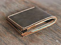 personalized bifold leather wallet for men bifold