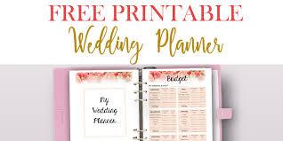 Printable Wedding Planner Free Printable Wedding Planner For Wedding Binder