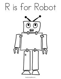 Small Picture R is for Robot Coloring Page Twisty Noodle