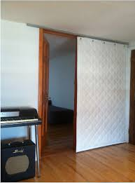 quilted sound blocking curtain on roller track more